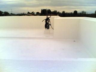 particolare del tetto in resina